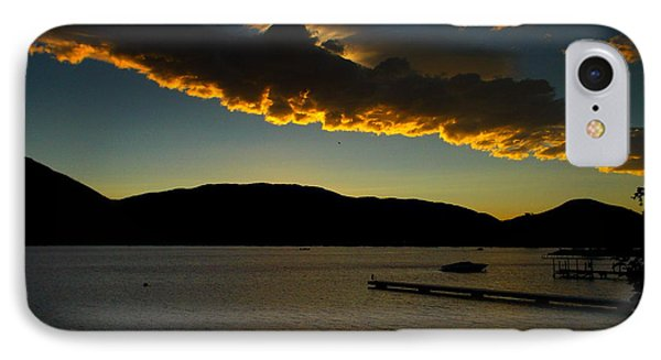 Skaha Lake Sunset July02/2013 IPhone Case by Guy Hoffman