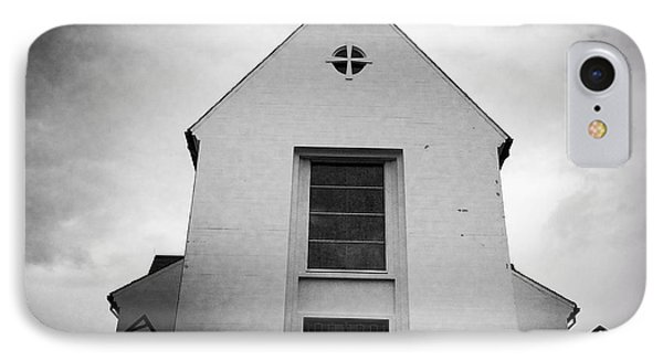 Skalholt Cathedral Iceland Europe Black And White IPhone Case by Matthias Hauser