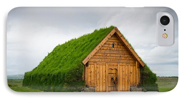 Skalholt Iceland Grass Roof IPhone Case by Matthias Hauser
