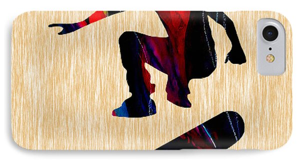 Skateboarder Painting IPhone Case