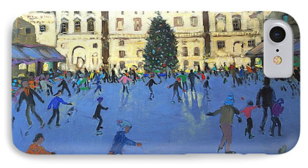 Skaters  Somerset House IPhone Case by Andrew Macara