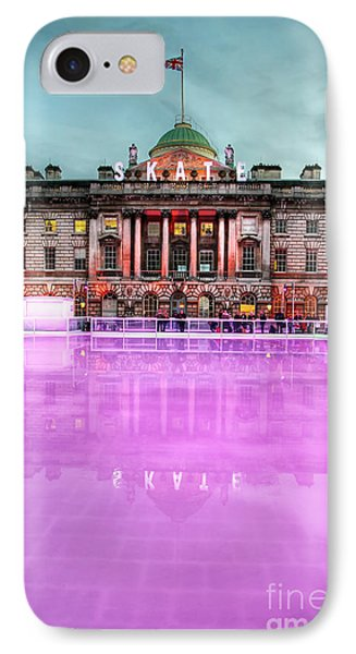 Skating At Somerset House Phone Case by Jasna Buncic