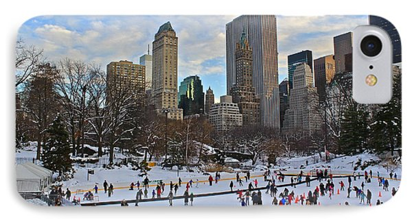 Skating In Central Park IPhone Case