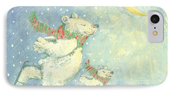 Ice iPhone 7 Case - Skating Polar Bears by David Cooke