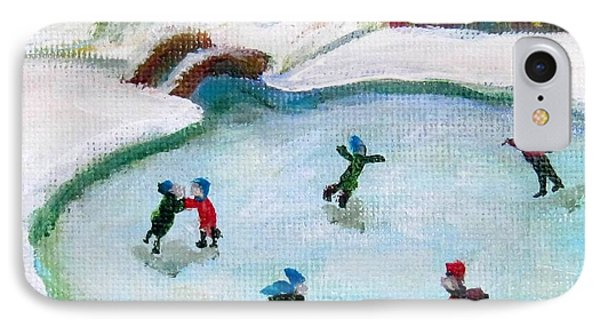 Skating Pond IPhone Case by Laurie Morgan