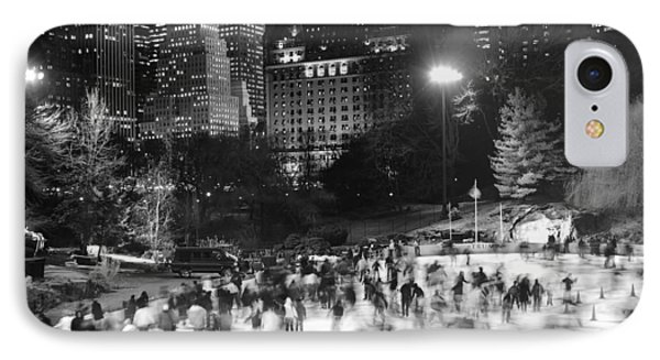 New York City - Skating Rink - Monochrome IPhone 7 Case