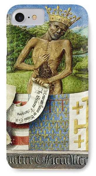 Skeleton; Arms Of Rene D'anjou IPhone Case by British Library