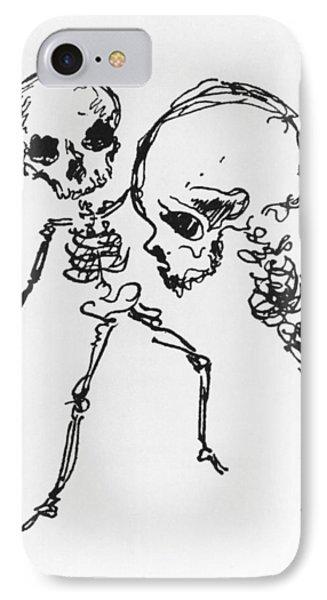 Skeletons, Illustration From Complainte De Loubli Et Des Morts IPhone Case by Jules Laforgue