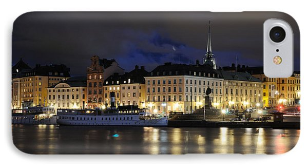 IPhone Case featuring the photograph Skeppsbron At Night by Jeremy Voisey