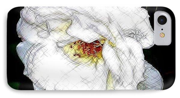 Sketch A Rose IPhone Case