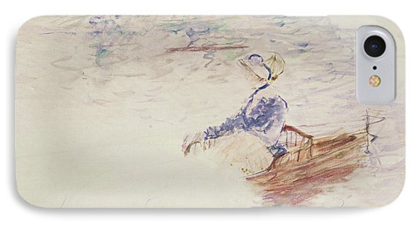 Sketch Of A Young Woman In A Boat Phone Case by Berthe Morisot