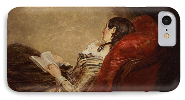 Sketch Of The Artists Wife Asleep IPhone Case by William Powell Frith