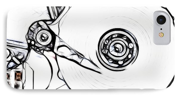 Sketch Of The Hard Disk IPhone Case by Michal Boubin