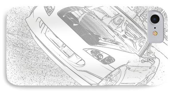 Sketched S2000 IPhone Case by Eric Liller