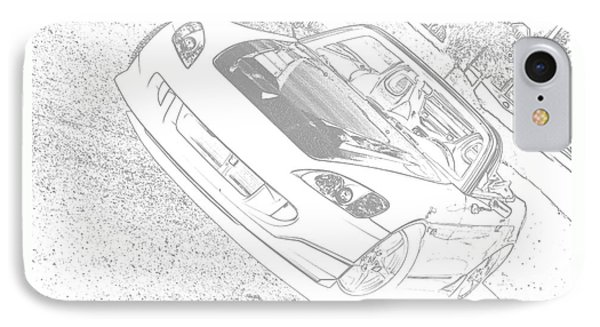 Sketched S2000 IPhone Case