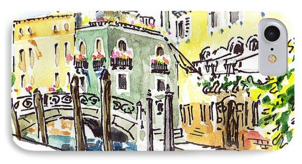 Sketching Italy Venice Canale IPhone Case by Irina Sztukowski