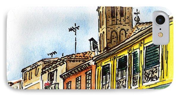 Sketching Italy Venice Via Nuova IPhone Case by Irina Sztukowski