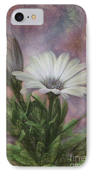 Sketchy Daisy In Mother Of Pearl IPhone Case