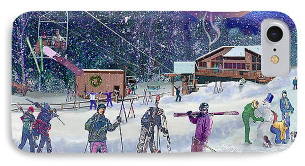 Ski Area Campton Mountain IPhone Case by Nancy Griswold