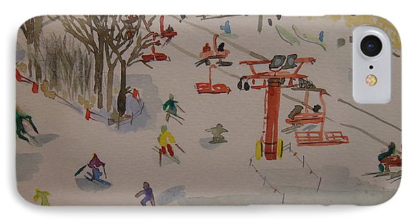 Ski Area IPhone Case by Rodger Ellingson