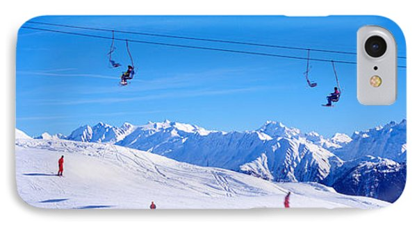 Ski Lift In Mountains Switzerland IPhone Case