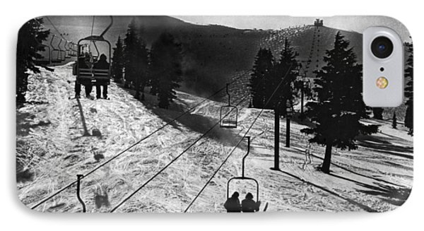 Ski Lifts At Squaw Valley In California IPhone Case by Underwood Archives