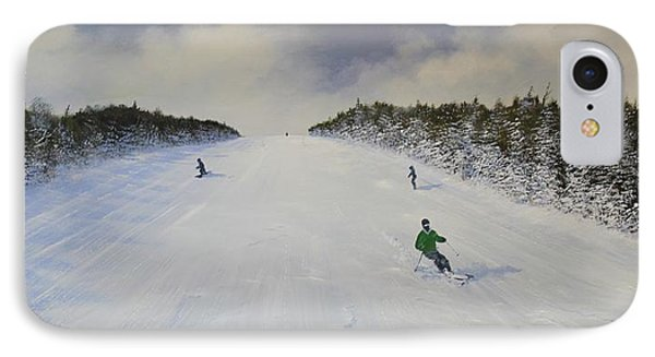 IPhone Case featuring the painting Ski The Meadow by Ken Ahlering