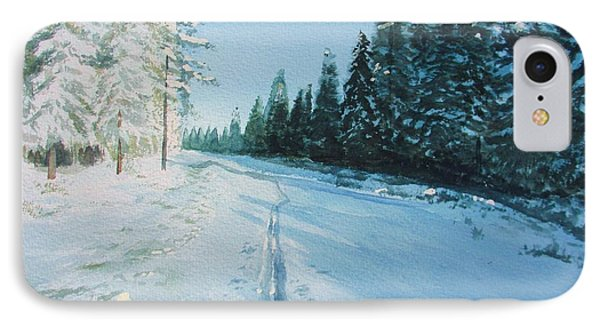Ski Tracks IPhone Case by Martin Howard