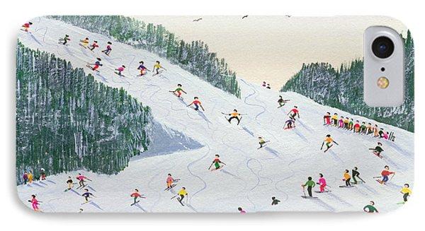 Ski Vening IPhone Case by Judy Joel