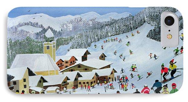 Ski Whizzz Phone Case by Judy Joel