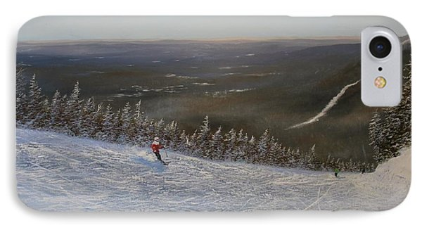 IPhone Case featuring the painting Ski With Me by Ken Ahlering