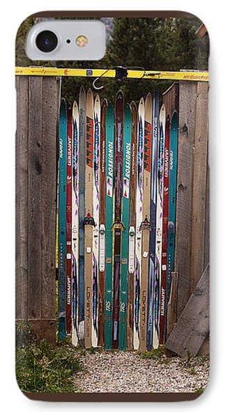 Ski'd Up IPhone Case by Lori Knisely