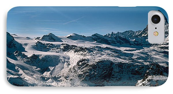 Skiers On Mountains In Winter IPhone Case