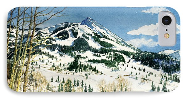 Skiers Paradise IPhone Case by Barbara Jewell