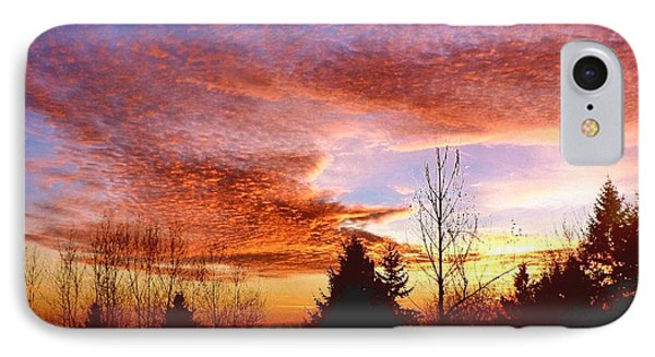 IPhone Case featuring the photograph Skies Ablaze by Sadie Reneau