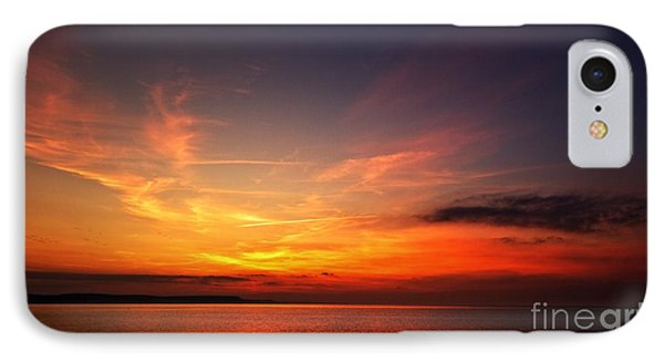 IPhone Case featuring the photograph Skies On Fire by Baggieoldboy