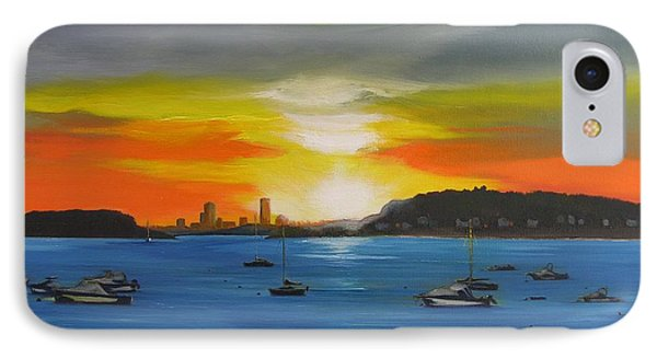 IPhone Case featuring the painting Skies Over The City by Barbara Hayes