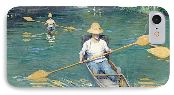 Skiffs Phone Case by Gustave Caillebotte