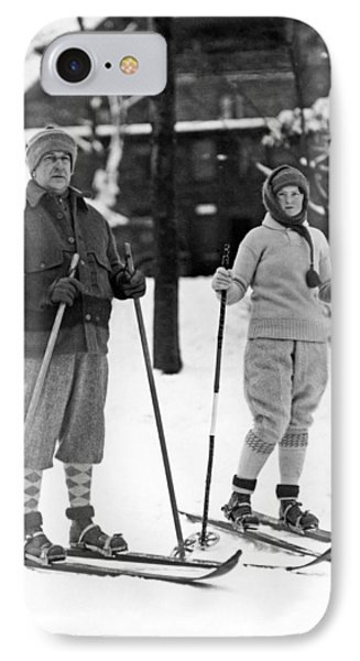 Skiing At Lake Placid In Ny Phone Case by Underwood Archives