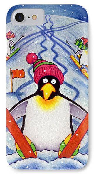 Skiing Holiday Phone Case by Cathy Baxter