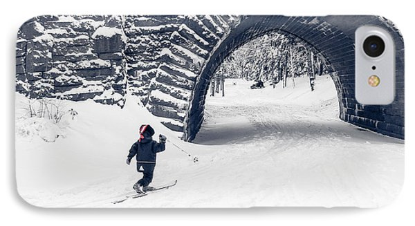 Skiing In Acadia National Park IPhone Case by Edward Fielding