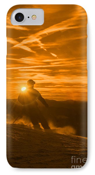 Skiing West Virgina Sunset Phone Case by Dan Friend
