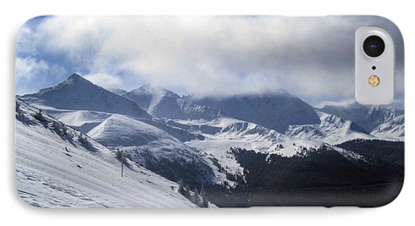 IPhone Case featuring the photograph Skiing With A View by Fiona Kennard