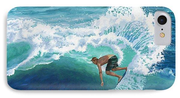 Skimboard Surfer IPhone Case by Alice Leggett