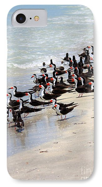 Skimmers On The Beach Phone Case by Carol Groenen
