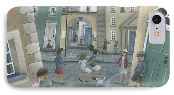 Cricket iPhone 7 Case - Skipping By The Green Door by Peter Adderley