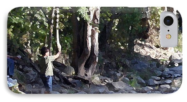 Skipping Stones Impressionist Fall Series #4  Phone Case by Sharon McLain