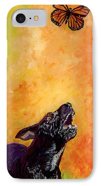 Skippy And The Flying Flower. IPhone Case by Anna Skaradzinska