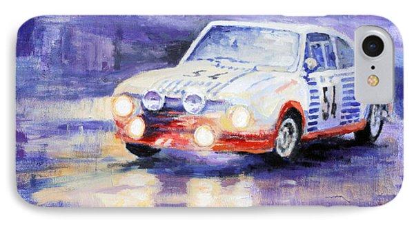 Skoda 130 Rs Rally Monte Carlo 1977 IPhone Case by Yuriy Shevchuk