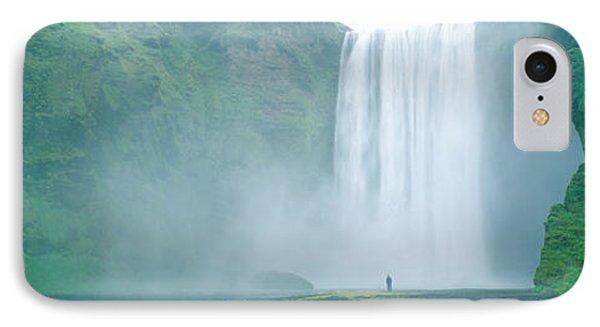 Skogafoss Falls, Skogar River, Iceland IPhone Case by Panoramic Images